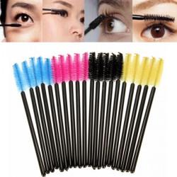 50stk Øjenvipper Øjenbryn Makeup Børster Pensler Disposable Mascara Tryllestave