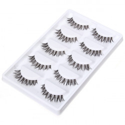 5 Pairs Thick Long Crisscross False Eyelashes Makeup Fake Eye Lashes