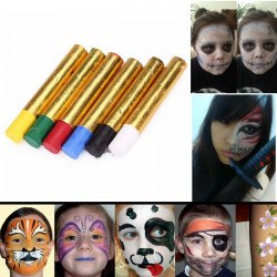 6 Farver Halloween Pigment Ansigt Paint Krop Maleri Crayon Sæt
