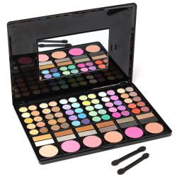 78 Färger Ögonskugga Makeup Pulver Palett Kosmetisk Rodnad Set