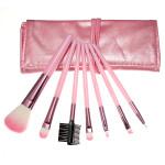 7pcs Cosmetic Makeup Powder Brush Set Foundation Leather Case Makeup