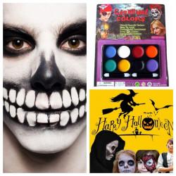 8 Färger Halloween Carnival Face Paint Body Painting Färg