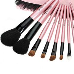 9pcs Professional Soft Wool Cosmetic Makeup Brushes Set