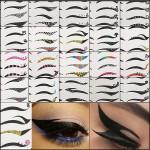 Black Temporary Eye Tattoo Transfer Eyeshadow Eyeliner Stickers Makeup