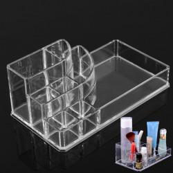 Klar Akryl Makeup Kosmetisk Box Organiserare Display Förvaringsfodral