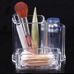 Clear Acrylic Makeup Cosmetic Lipstick Brush Storage Organizer