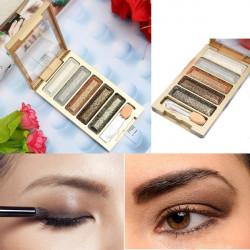 Kosmetiske 5 Farver Øjenskygge Makeup Glitter Øjenskygge Palette