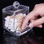 Cotton Swab Holder Cosmetic Cotton Pads Storage Box Makeup