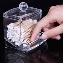 Bomuld Swab Holder Kosmetiske Vatrondeller Opbevaring Box