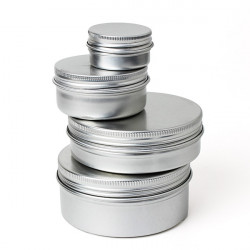 Tøm Cosmetic Pot Jar Tin Container 15ml / 50ml / 100ml / 150ml
