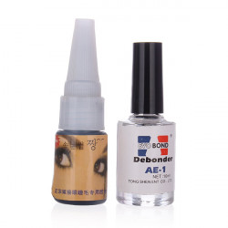 Kunstige Øjenvipper Extension Lim + Fjerner Makeup Sæt