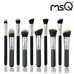 MSQ 10stk Sort Goat Hår Makeup Kosmetiske Børster Pensler Sæt Kit Makeup
