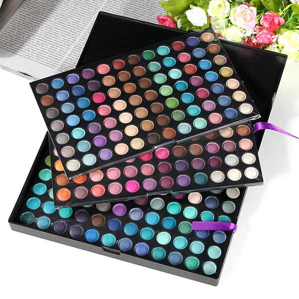 Pro Full 252 Color Makeup Cosmetic Shimmer Matte Eyeshadow Palette Makeup