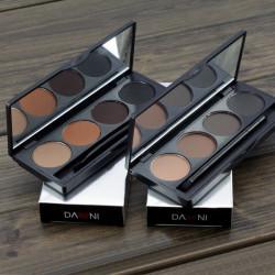 Professional Makeup 4 Färger Ögonbryn Powder Palett med Borstar