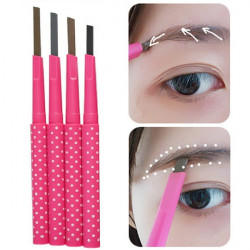 Rotating Black Coffee Gray Eyebrow Pencil Makeup Tool Long Lasting