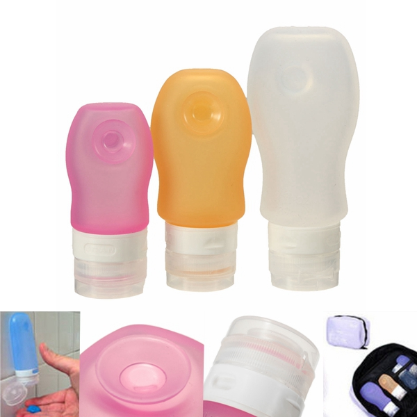 Rejser Portable Silicone Lotion Shampoo Suge Cream Container Bottle Makeup