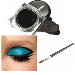 Vattentät Svart Makeup Eyeliner Gel Kosmetisk Eyeliner Brush