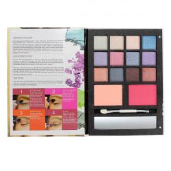 Women's Smoky Eyeshadow Face Blush Powder Brush Makeup Kit