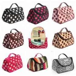 Zebra Stripe Portable Makeup Kosmetiske Sag Opbevaring Travel Bag