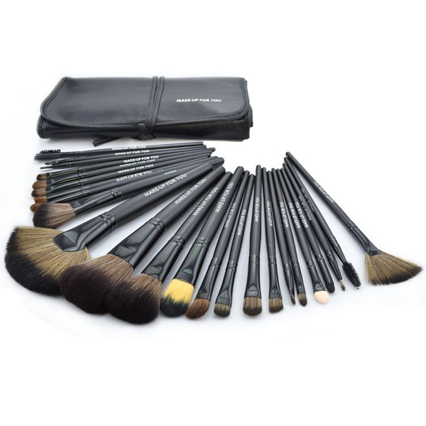 Kompensera för Dig 24st Pro Kosmetisk Makeup Sminkborstar Set Kit Smink