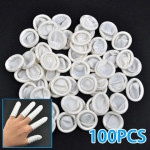100stk Nail Art Latex Gummi Finger Børnesenge Protector Gloves Pulver Negle