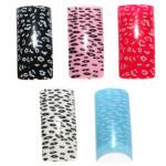 100pcs Acrylic UV French Half False Nail Art Tips 10 size Nail Art