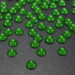 100pcs Half Round Pearl Bead Nail Art Tips 3D Gems Decoration 5mm Nail Art