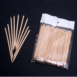 100 X Orange Wood Stick Nagelkonst Nagelbands Pusher