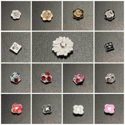 10stk Flowers Shiny Crystal Manicure Nail Art Dekoration