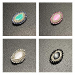 10st Oval Crystal Oil Droppa Nagelkonst Dekoration Naglar