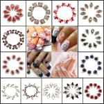 10er glänzendem Kristall Maniküre Nagel Kunst DIY Sticker Dekoration Tipps Nageldesign
