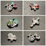 10st Skull Krucifix Crystal Metall Shiny Manikyr Nagelkonst Dekoration Naglar