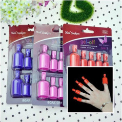 10st UV Gel Polish Nagellacksborttagning Blötwearable Nail Soakers Nail Verktyg