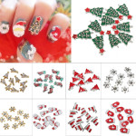 10Pcs 3D Christmas Glitters Rhinestones DIY Nail Art Decoration Nail Art