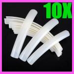 10stk Milkly Lange Akryl Falsk 3D Negletipper Tipper HOT Negle