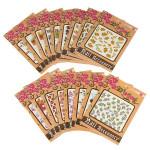 10 Blatt Nagel Kunst Aufkleber Acryl Wraps Dekoration Tipps Decals