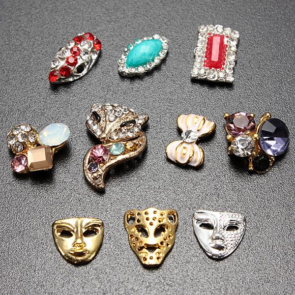 10 Nagel Kunstrhinestone Funkeln Dekoration Crystal Sticker