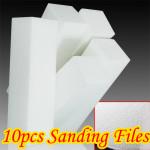 10X Hvid Nail Art Buffer Buffing Slibning Filer Block Negle