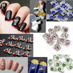 10pcs 3D Nail Art Phone Crystal Rhinestone Stick Drill DIY Decoration