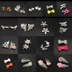 10stk Metall Strass Kristall 3D DIY Nagel Kunst Spitze Dekoration