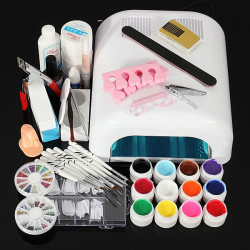 110V 36W Nagelkonst UV Gel Dryer Lamp Manicure Kit Set