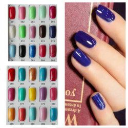 120 Färg Nagelkonst Soak Off LED UV Gel Polish Nagellack 15ml 061-090