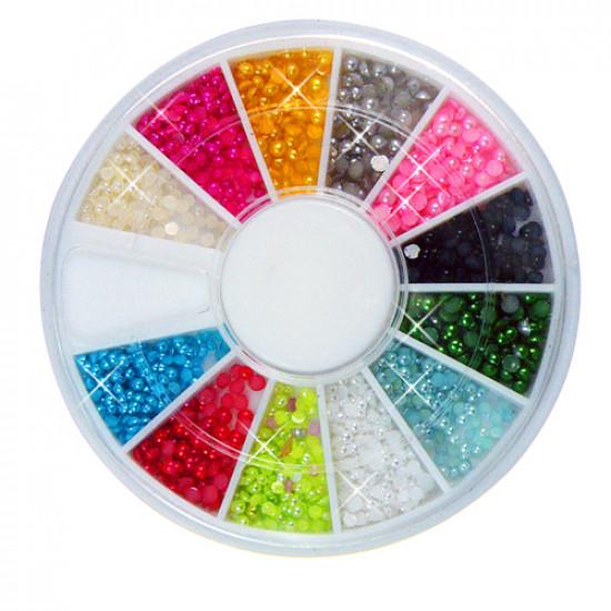 12 Farben Nagel Kunst Spitze Perlen Korn Dekoration Rad 2021