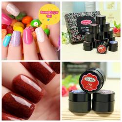 12 Farver Lysbehandling Soak Off Søde Sugar Negle Gel Sæt