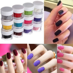 12 Colors Velvet Flocking Nail Art Design Powder Decoration