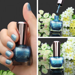 12ml Metall Färg Blue Nagelkonst Varnish Polish Nagellacket