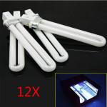 12stk 9Watt Nail Art UV Gel  Hvid Lys Lampe Tube Negle