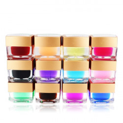 12 Solid Color Acryl UVgel Erbauer Nagel Kunst DIY Dekoration