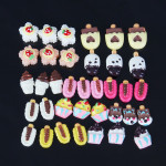 12 Styles 3D Resin Cute Cake Popsicle Nail Art Phone Decoration Nail Art