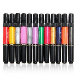 12 Eller 24stk Mix Farver Nail Art Varnish Polish Børste Pensel Pen Sæt Kit